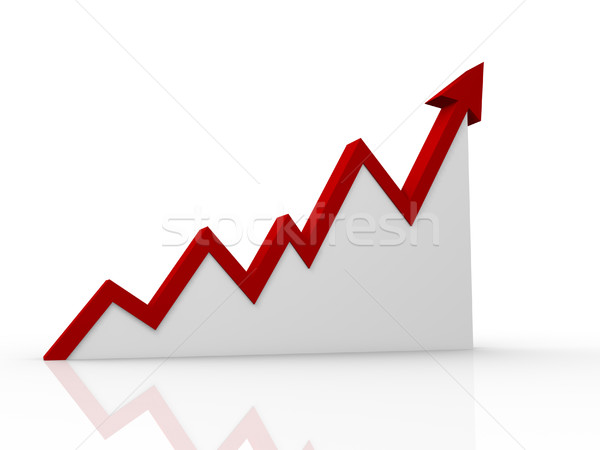 Pijl diagram 3d render illustratie business grafiek Stockfoto © coramax