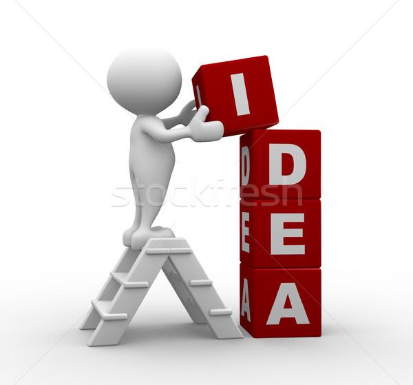 Foto stock: Idéia · 3d · pessoas · homem · pessoa · negócio