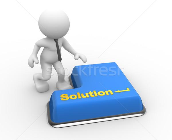 Billentyűzet 3d emberek férfi személy szó megoldás Stock fotó © coramax