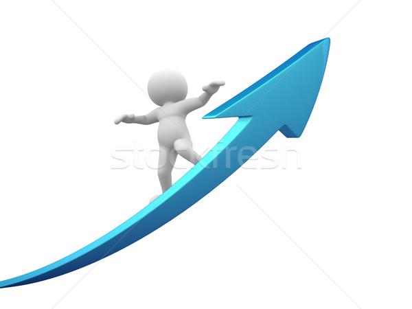 矢印 3次元の人々 男 人 成功 お金 ストックフォト © coramax