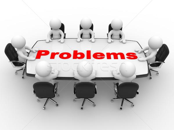 Konferencia asztal 3d emberek férfiak személy üzlet Stock fotó © coramax