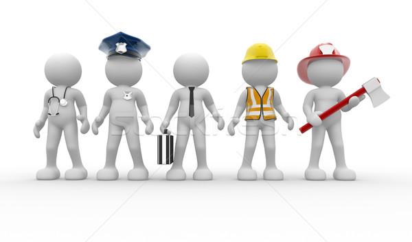 Különböző foglalkozások 3d emberek emberi karakter személy Stock fotó © coramax