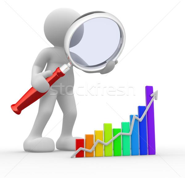 Pesquisar 3d pessoas homem pessoa gráfico financeiro Foto stock © coramax