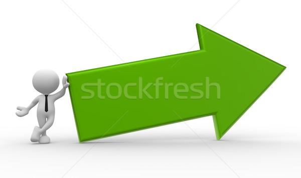 矢印 3次元の人々 男 人 ビジネス 女性 ストックフォト © coramax