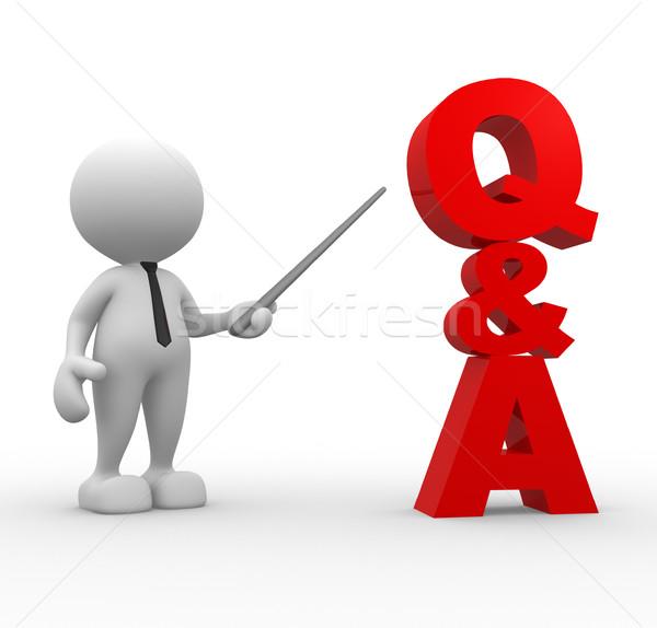 Q&A Stock photo © coramax