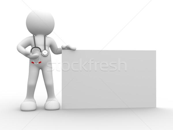 Medico la gente 3d umani carattere persona banner Foto d'archivio © coramax
