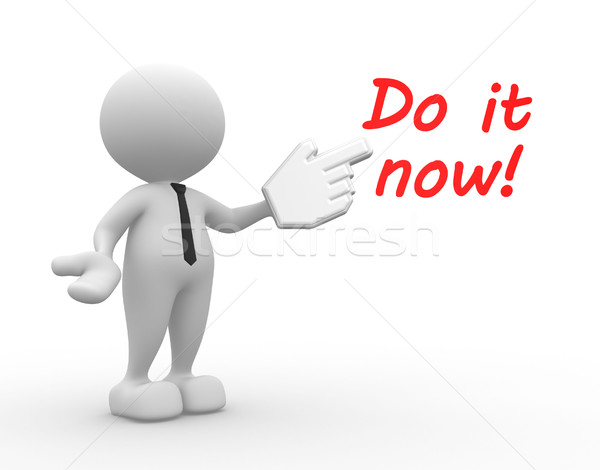 Do it now Stock photo © coramax