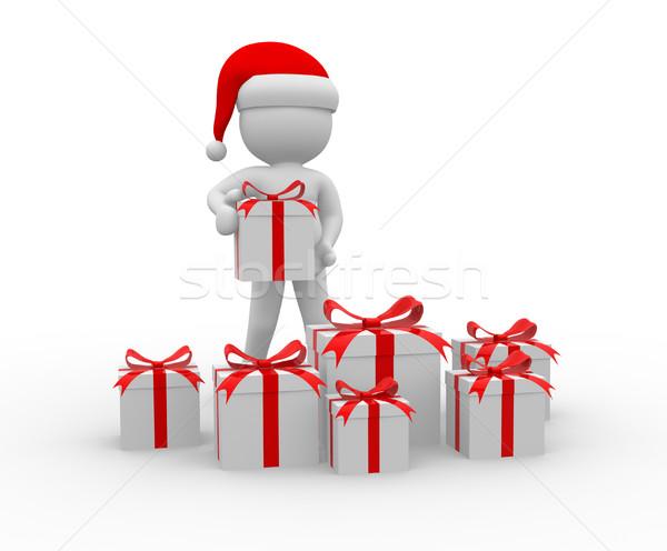 Kerstman 3d mensen man persoon papier Stockfoto © coramax