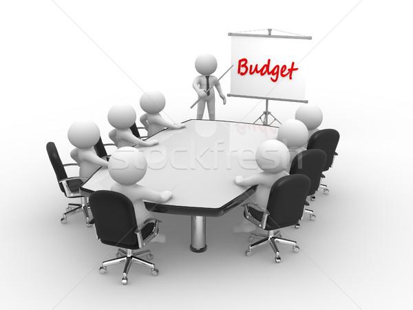 Budget 3d mensen man persoon conferentie tabel Stockfoto © coramax