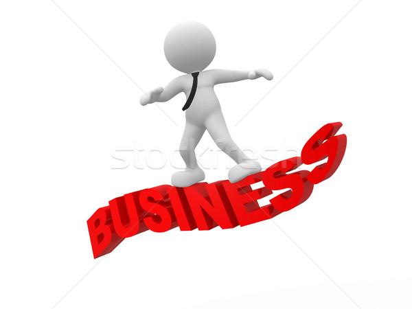 Business 3d mensen man persoon vliegen woord Stockfoto © coramax