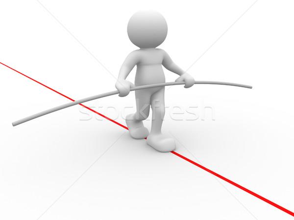 Acrobaat 3d mensen menselijke karakter persoon lopen Stockfoto © coramax