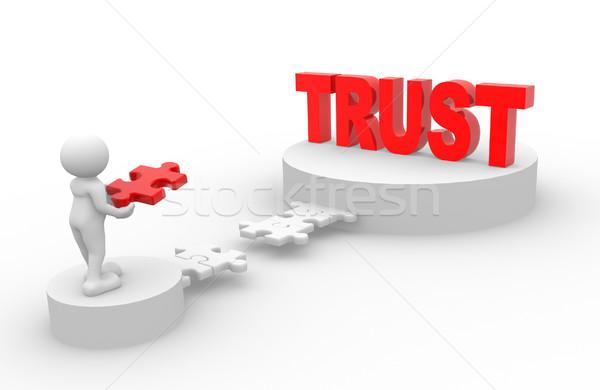 Rompecabezas 3d personas hombre persona piezas confianza Foto stock © coramax