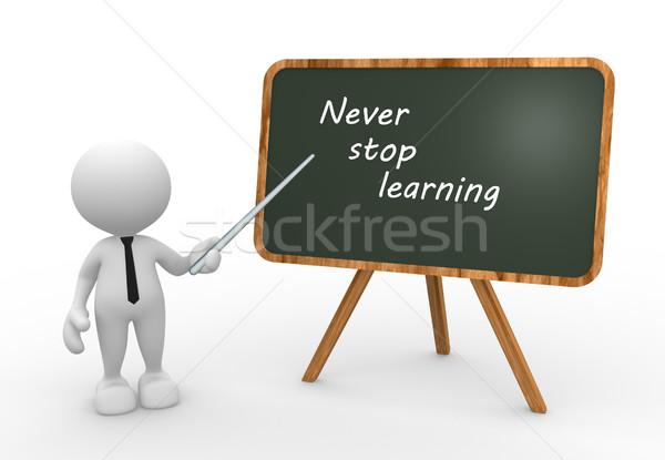 Asla durdurmak öğrenme 3d insanlar adam kişi Stok fotoğraf © coramax