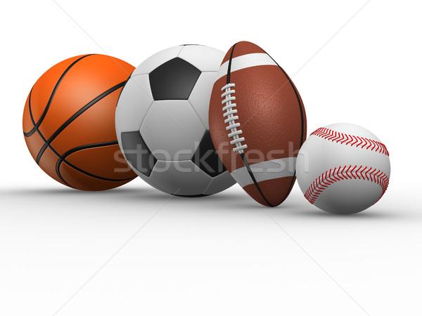 異なる ボール サッカー ラグビー 野球 バスケットボール ストックフォト © coramax
