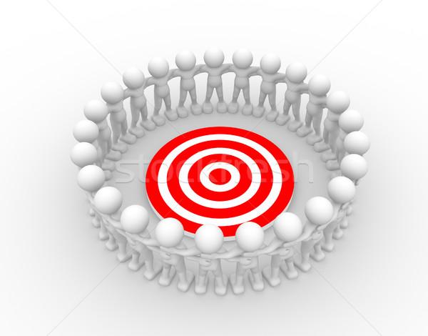 Target la gente 3d uomo persona colore anello Foto d'archivio © coramax