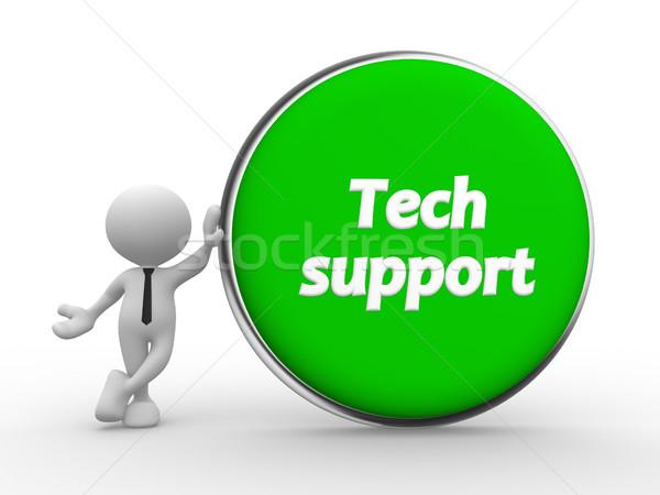 Tech ondersteuning 3d mensen man persoon groene Stockfoto © coramax