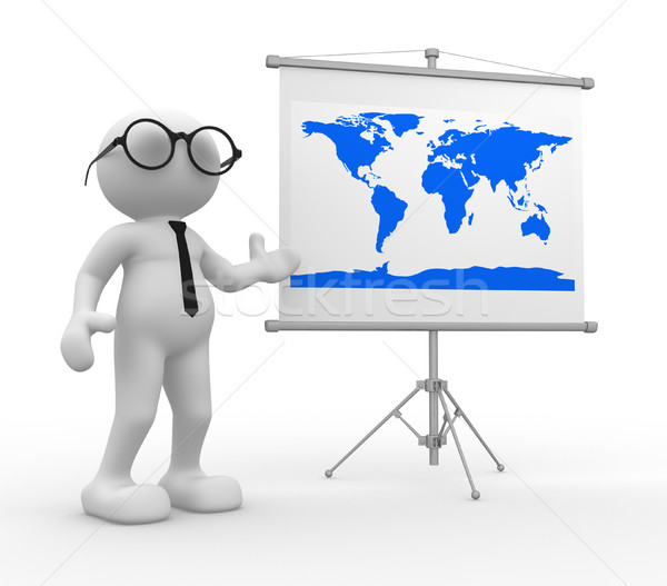 карта 3d люди человека человек Мир карта Мир Сток-фото © coramax