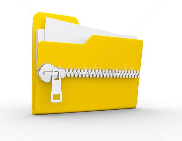 Stockfoto: Map · icon · witte · 3d · render · business · oranje