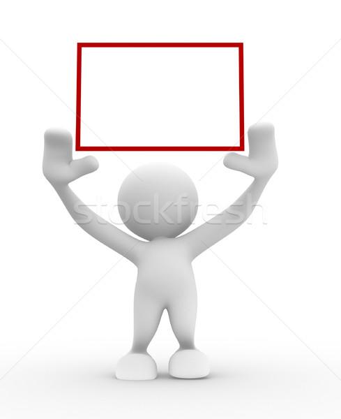 Keret 3d emberek férfi személy üzlet papír Stock fotó © coramax