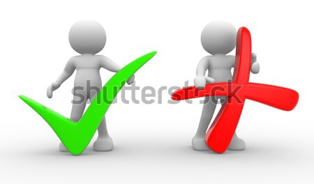 Símbolo 3d personas hombres persona positivo negativos Foto stock © coramax