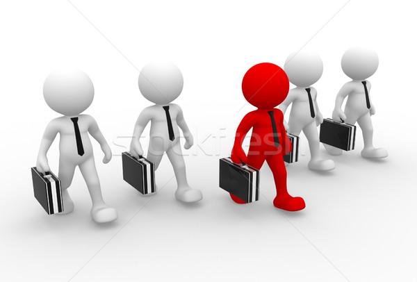 руководство команда 3d люди человека человек портфель Сток-фото © coramax