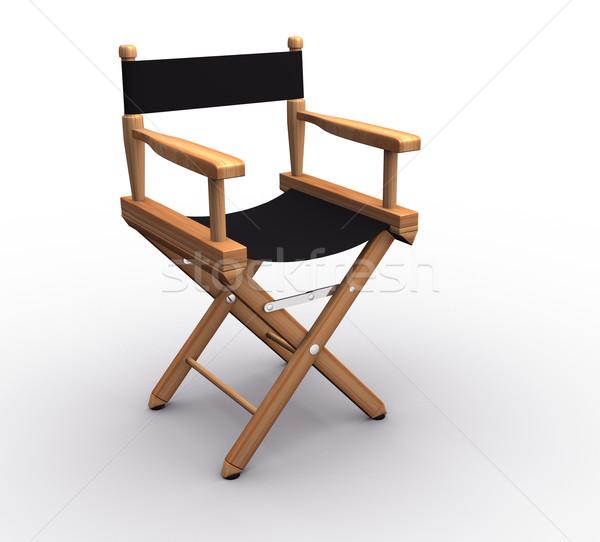 директор Председатель белый 3d визуализации кино графика Сток-фото © coramax