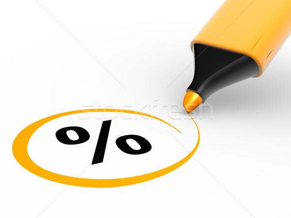 процент знак 3D маркер 3d визуализации иллюстрация Сток-фото © coramax