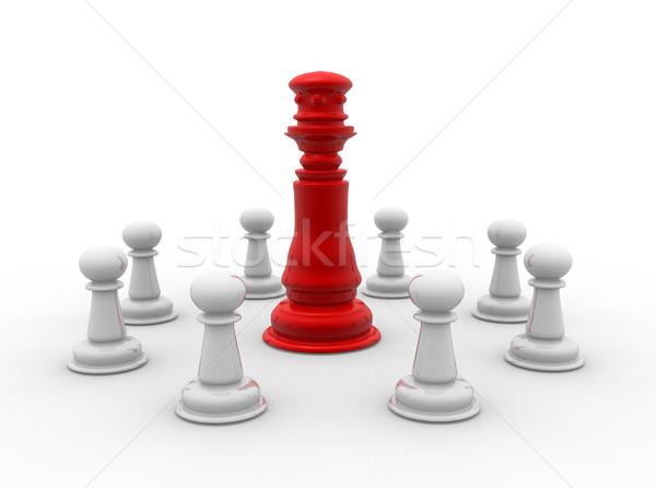 Sakkfigurák király 3d render pár sakk játék Stock fotó © coramax