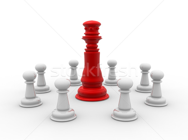 Piezas de ajedrez rey 3d Pareja ajedrez juguete Foto stock © coramax