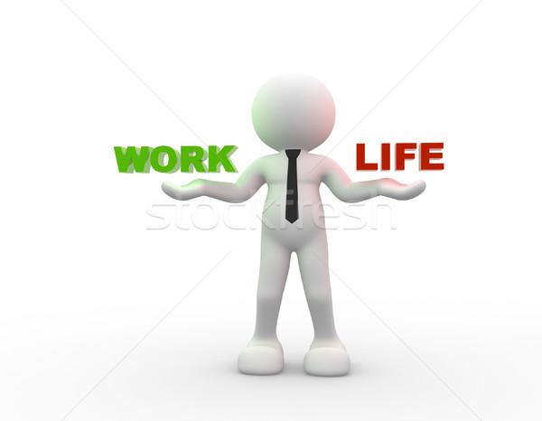 çalışmak hayat 3d insanlar adam kişi Stok fotoğraf © coramax