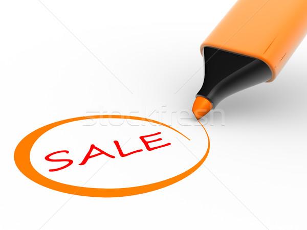Marcador palabra venta comprobar 3d ilustración Foto stock © coramax