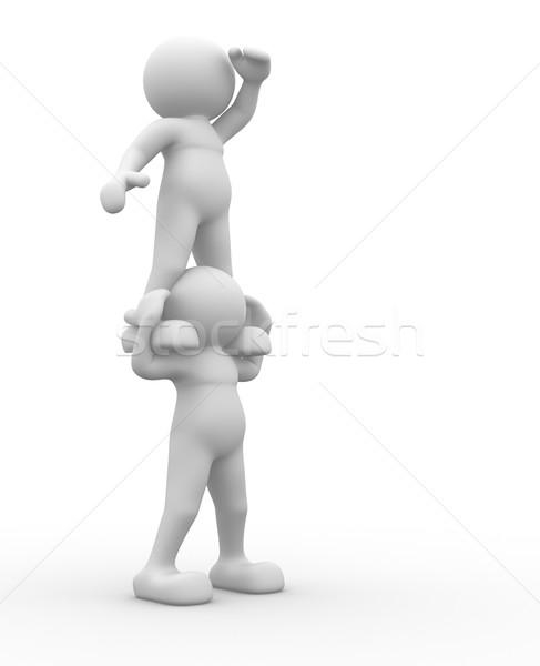 Stock fotó: Néz · 3d · emberek · emberi · karakter · személy · külső