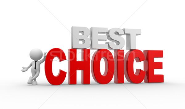 Legjobb választás 3d emberek férfi személy szöveg siker Stock fotó © coramax