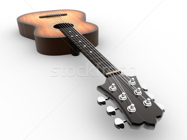 Akustik gitar 3d render örnek ahşap gitar konser Stok fotoğraf © coramax