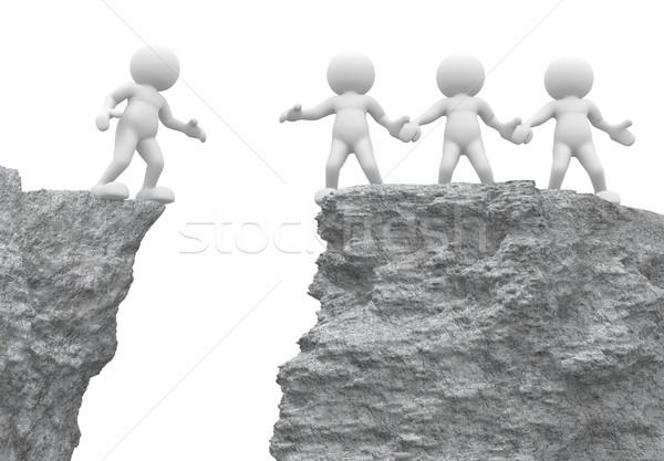 Mana de ajutor oameni 3d uman persoană Imagine de stoc © coramax