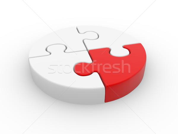 Rompecabezas piezas círculo 3d ilustración Foto stock © coramax