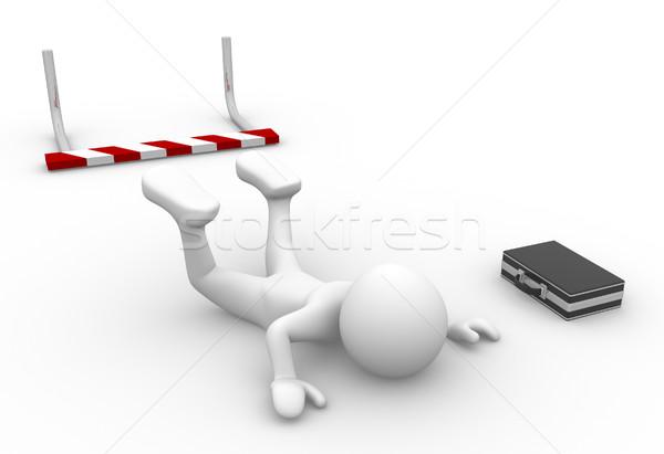 Foto stock: Empresario · 3d · personas · hombre · persona · ir · obstáculo