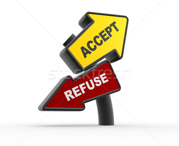 Accept or refuse Stock photo © coramax