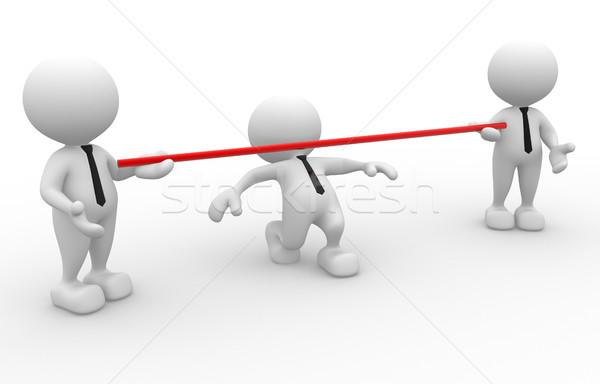 ビジネスマン 3次元の人々 男 人 ストックフォト © coramax