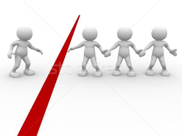 Ayudar 3d personas humanos carácter persona rojo Foto stock © coramax