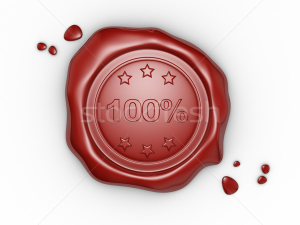 Wax seal 100%  Stock photo © coramax