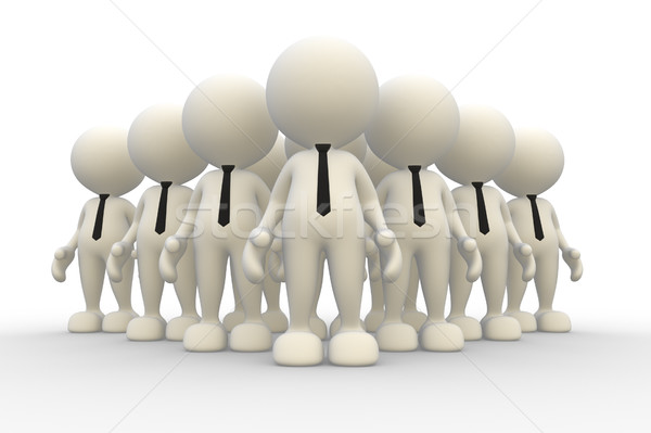 Team 3d mensen mannen persoon familie abstract Stockfoto © coramax