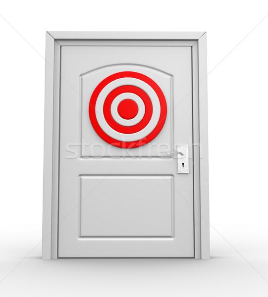 Target chiuso porta rendering 3d sport arte Foto d'archivio © coramax