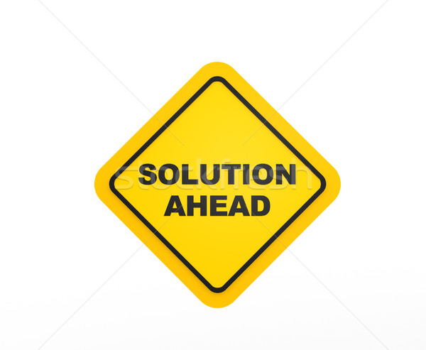 Solution Ahead traffic sign Stock photo © coramax