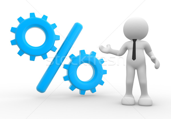 процент 3d люди человека человек знак скидка Сток-фото © coramax