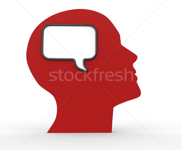 人間 頭 空っぽ バブル 3dのレンダリング 実例 ストックフォト © coramax