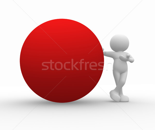 Red sphere Stock photo © coramax