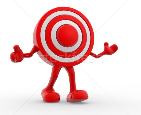 Target rendering 3d illustrazione sport arte rosso Foto d'archivio © coramax