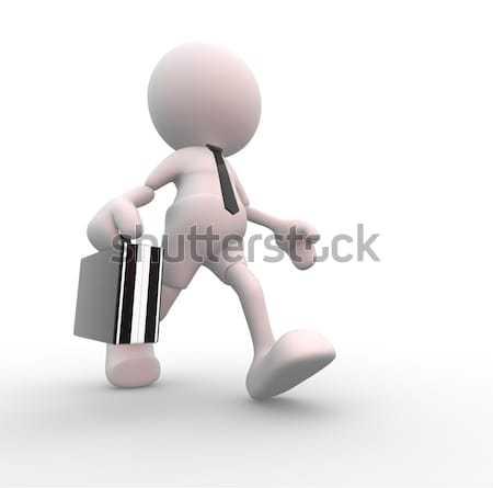 Prisa hasta 3d personas hombre persona rápido Foto stock © coramax
