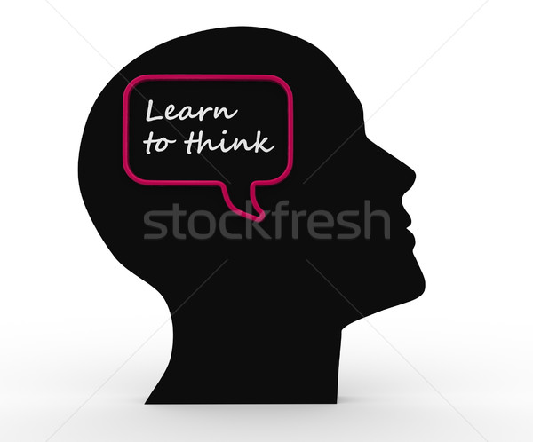 Learn to think Stock photo © coramax